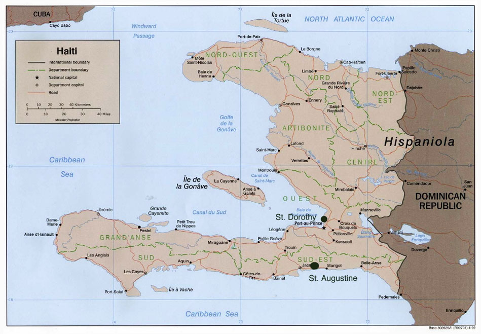 map of haiti 1 - About